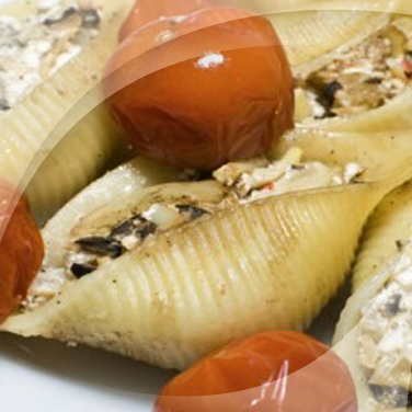 Pasta Shells with Mushrooms and Ricotta