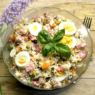Salad with 16 Vegetable RisoPiù with Oil
