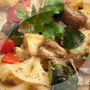 Pasta and Aubergine Salad