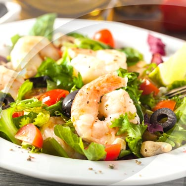 Vegetable Salad with Fish