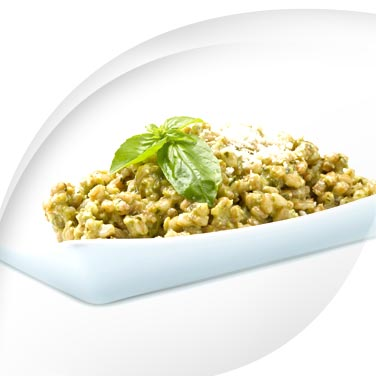 Barley, Spelt and Courgette Pesto