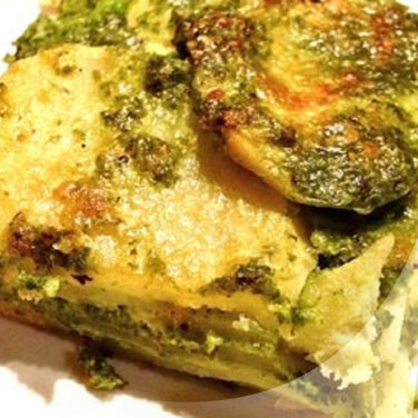 Parmigiana with Pesto and Potatoes