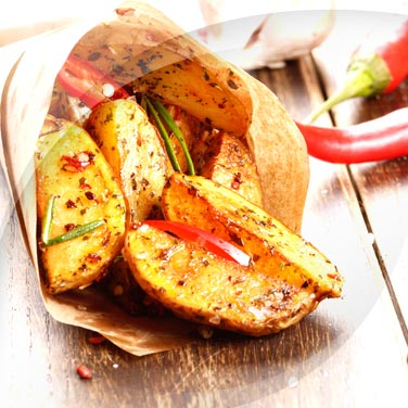Potatoes, Garlic, Oil, Chilli Pepper and Rosemary