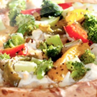 Pizza with Bell Peppers and Broccoli