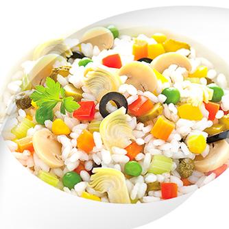 Salad with 16 Vegetable RisoPiù Light