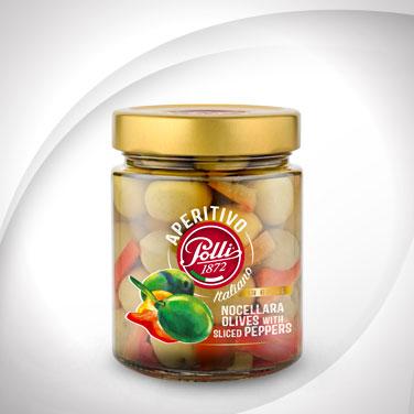 polli-aperitivo-nocellara-olives-peppers