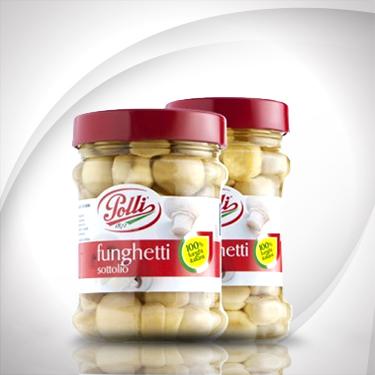 Oil-Pickled Button Mushrooms Polli