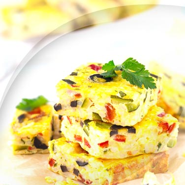 Frittata with Bell Peppers and Cheese