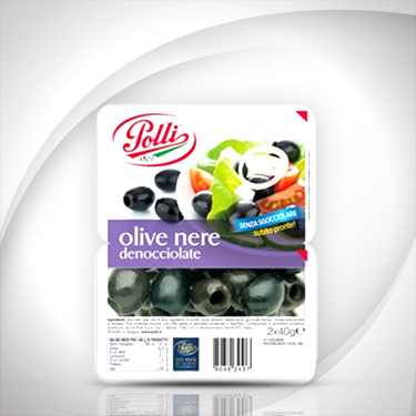 Black Pitted Olives tray Polli