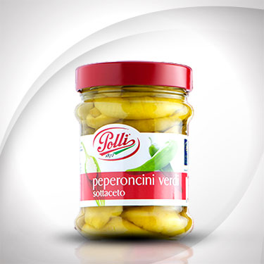 Pickled Green Tuscan Chilli Peppers Polli