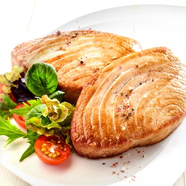 Roast Swordfish with Onions