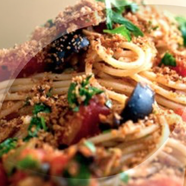Spaghetti with Capers, Olives and Cherry Tomatoes