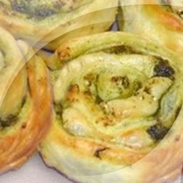 Pinwheels with Pesto and Brie
