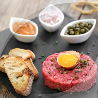 Beef Tartare with Artichoke Pesto