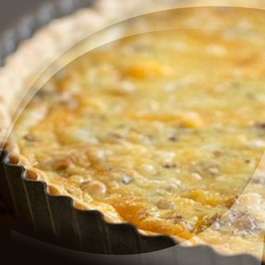 Quiche with Button Mushrooms