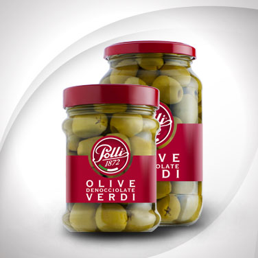 Green Pitted Olives Polli